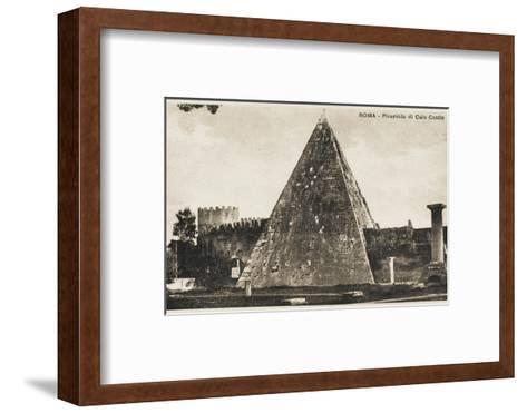 Pyramid of Cestius, Rome--Framed Art Print