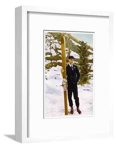 Ski Champion Vinjarengen of Norway at Lake Placid--Framed Art Print