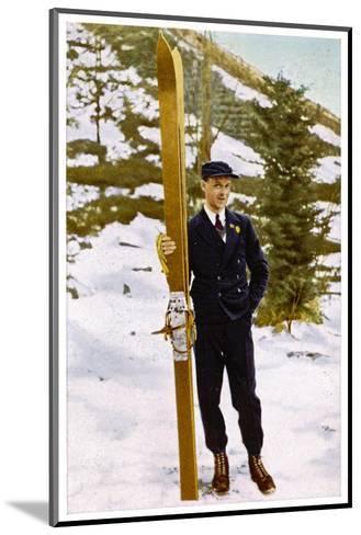 Ski Champion Vinjarengen of Norway at Lake Placid--Mounted Photographic Print