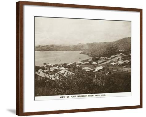 Port Moresby from Paga Hill - Papua New Guinea--Framed Art Print