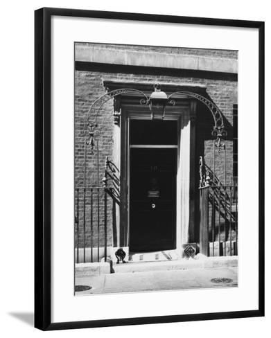 No 10 Downing Street Doorway--Framed Art Print