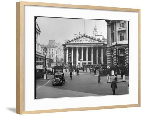 Royal Exchange 1950s--Framed Art Print