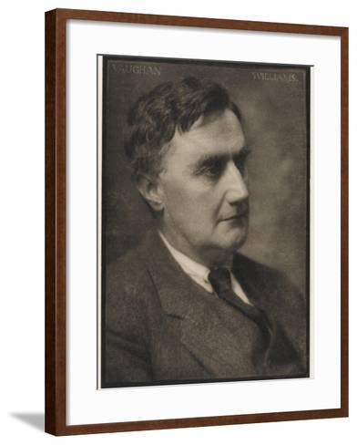 Ralph Vaughan Williams Composer--Framed Art Print