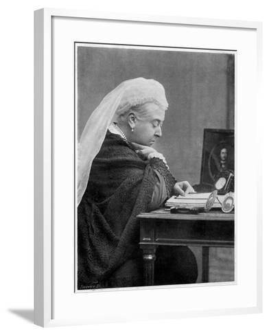 Queen Victoria--Framed Art Print
