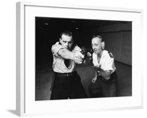 Police Shooting Range--Framed Art Print