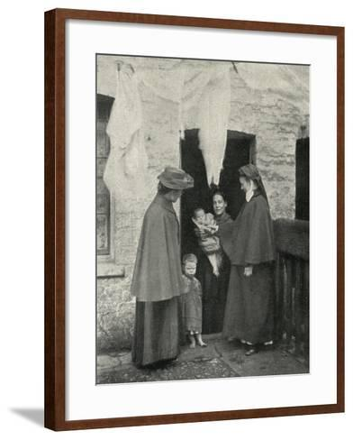 Salvation Army Slum Sisters on a Home Visit-Peter Higginbotham-Framed Art Print