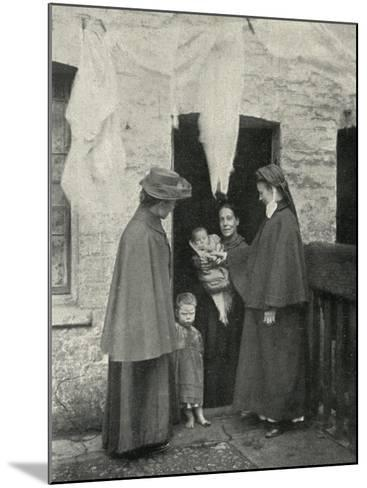 Salvation Army Slum Sisters on a Home Visit-Peter Higginbotham-Mounted Photographic Print
