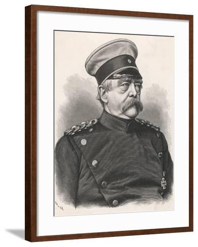 Otto Von Bismarck German Statesman, in 1885 Wearing Uniform--Framed Art Print