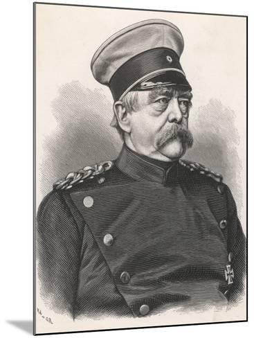 Otto Von Bismarck German Statesman, in 1885 Wearing Uniform--Mounted Photographic Print