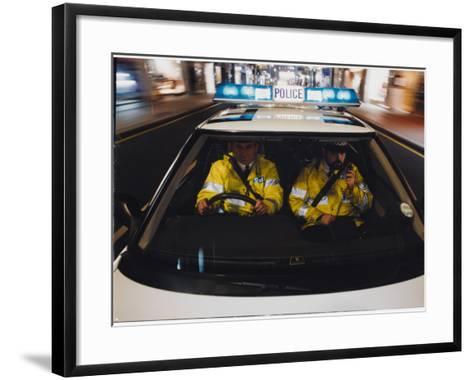 Police Car Chase 1991--Framed Art Print