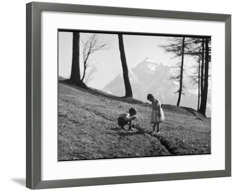 Romania Children--Framed Art Print