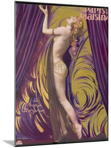 Showgirl and Dancer Chrysis, on a Beautiful Front Cover Design--Mounted Photographic Print