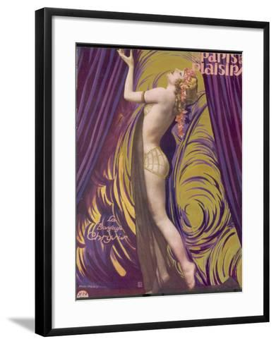 Showgirl and Dancer Chrysis, on a Beautiful Front Cover Design--Framed Art Print