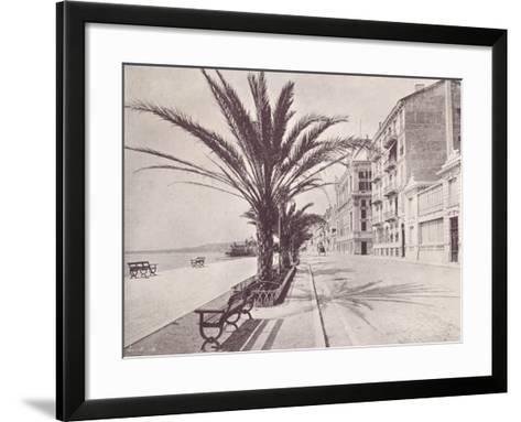Promenade Des Anglais--Framed Art Print