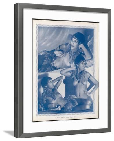 Josephine Baker Folies Bergere Dancer--Framed Art Print