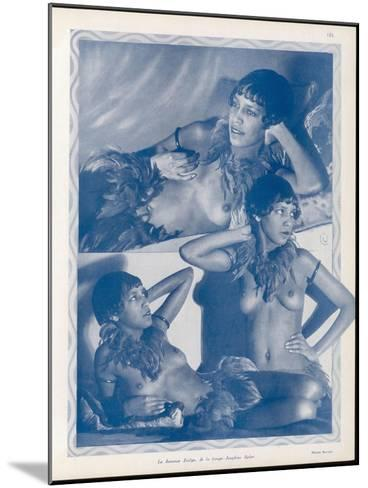 Josephine Baker Folies Bergere Dancer--Mounted Photographic Print