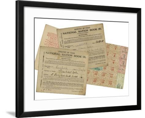 Rationing National Ration Books from the Ministry of Food--Framed Art Print
