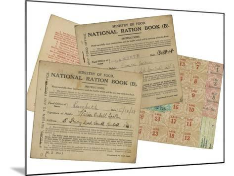 Rationing National Ration Books from the Ministry of Food--Mounted Photographic Print