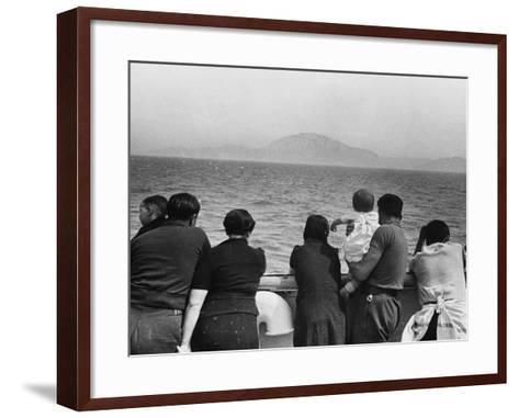 Refugee Ship WWII-Robert Hunt-Framed Art Print