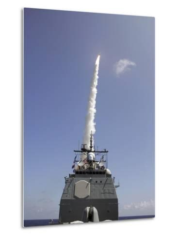 A Standard Missile 2 Is Launched from the Aegis Cruiser USS Lake Erie-Stocktrek Images-Metal Print