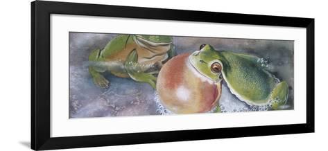 European Tree Frog (Hyla Arborea), Illustration--Framed Art Print