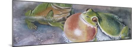 European Tree Frog (Hyla Arborea), Illustration--Mounted Photographic Print