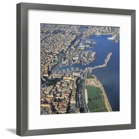 Aerial View of Buildings in a City, Palermo, Sicily, Italy--Framed Art Print
