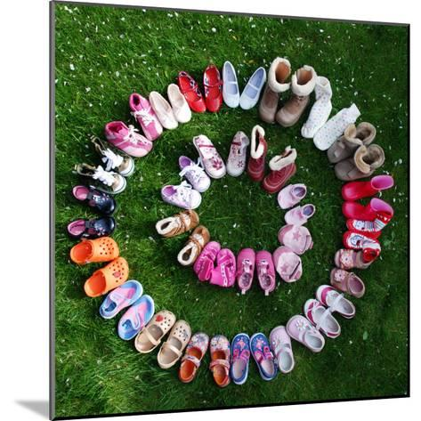Baby and Toddler Shoes--Mounted Photographic Print