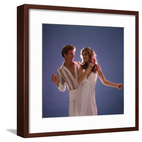 Couple Disco Dancing-Dennis Hallinan-Framed Art Print