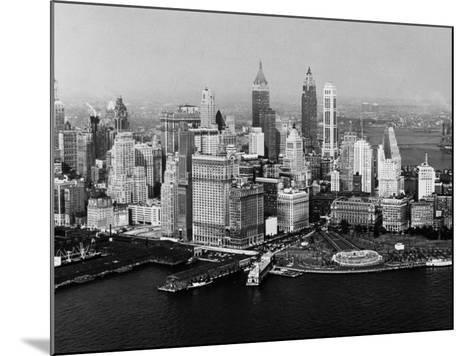 Battery Park, New York City, New York, 1954--Mounted Photographic Print