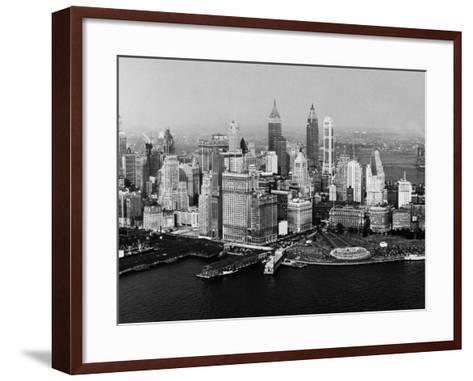 Battery Park, New York City, New York, 1954--Framed Art Print