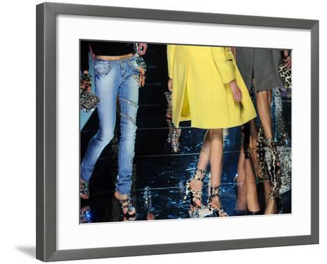 Models Display Creations of Blumarine Fa--Framed Art Print
