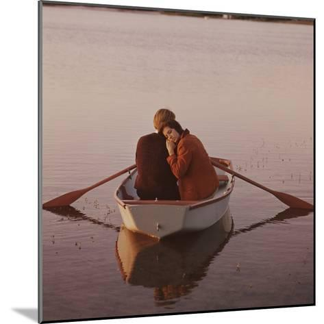Couple in Rowboat-Dennis Hallinan-Mounted Photographic Print