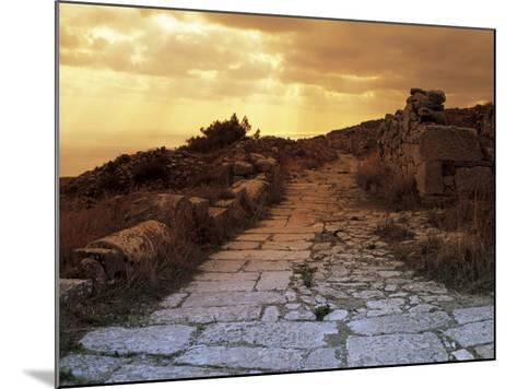 High Angle View of the Sacred Way, Ancient Thera, Santorini, Cyclades Islands, Southern Aegean-De Agostini-Mounted Photographic Print
