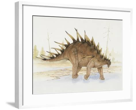Kentrosaurus Dinosaur Standing in Water--Framed Art Print