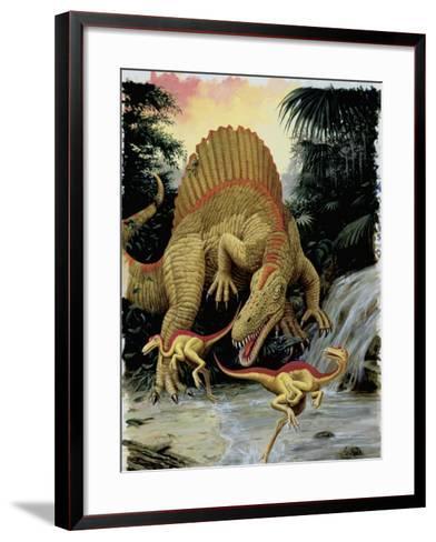 Spinosaurus Dinosaur Hunting Another Dinosaurs--Framed Art Print