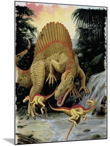 Spinosaurus Dinosaur Hunting Another Dinosaurs--Mounted Photographic Print