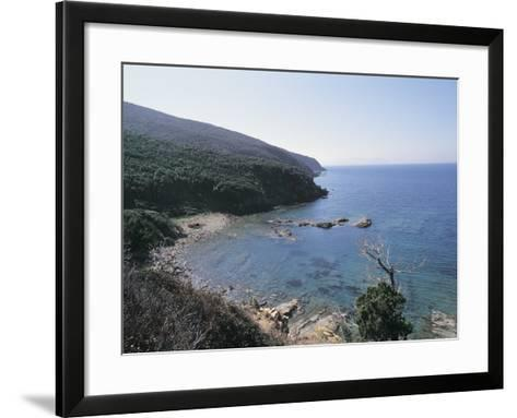 High Angle View of a Coastline, Populonia, Maremma, Tuscany, Italy--Framed Art Print
