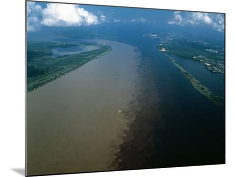 Brazil - Amazonas - Amazon River and Negro River--Mounted Photographic Print