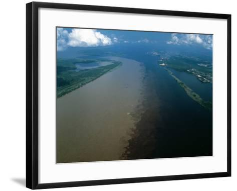 Brazil - Amazonas - Amazon River and Negro River--Framed Art Print