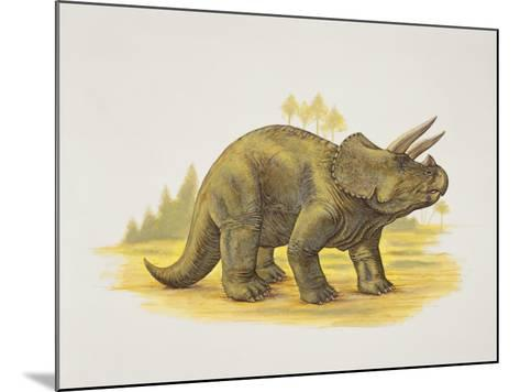 Side Profile of a Dinosaur--Mounted Photographic Print