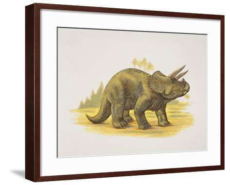 Side Profile of a Dinosaur--Framed Art Print