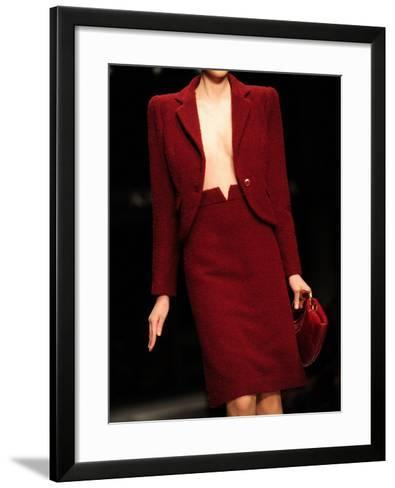 A Model Displays a Creation of Gucci Fall/Winter 2009-2010 Ready-to-wear Collection--Framed Art Print