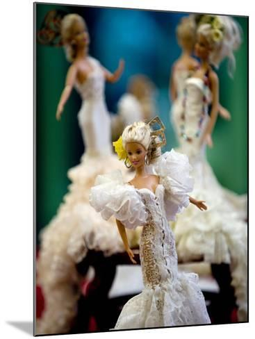 One of the two hundred Barbie dolls dressed in traditional flamenco outfits--Mounted Photographic Print