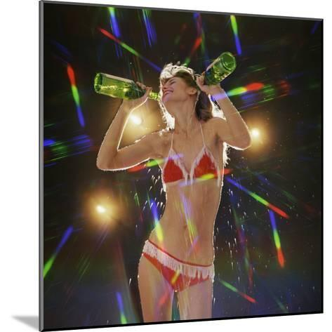 Go Go Dancer Pouring Water on Herself-Dennis Hallinan-Mounted Photographic Print