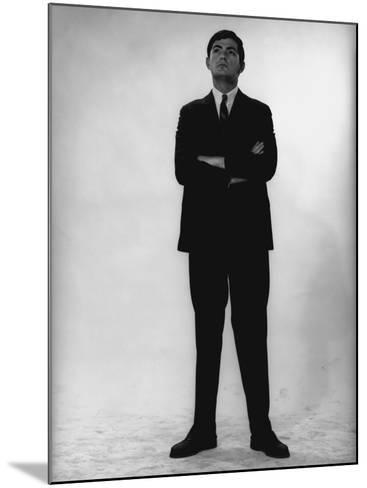 Man in Full Suit Standing in Studio-George Marks-Mounted Photographic Print