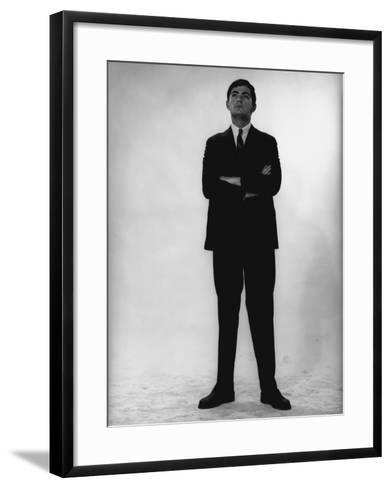Man in Full Suit Standing in Studio-George Marks-Framed Art Print