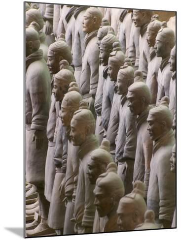 China, Shaanxi Province, Xian, Terra Cotta Warriors in Emperor Qinshihuangdi's Tomb-Keren Su-Mounted Photographic Print