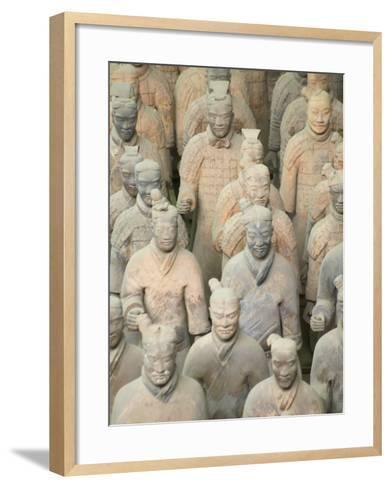 China, Shaanxi Province, Xian, Terra Cotta Warriors in Emperor Qinshihuangdi's Tomb-Keren Su-Framed Art Print