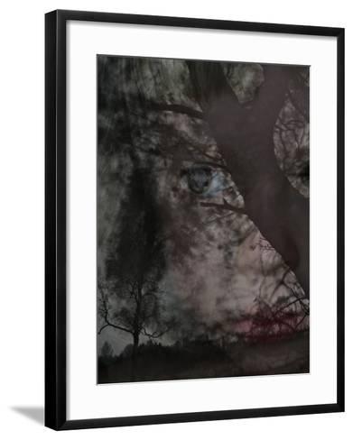An Eerie Forest--Framed Art Print